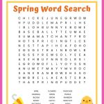 Spring Word Search Free Printable Worksheet For Kids