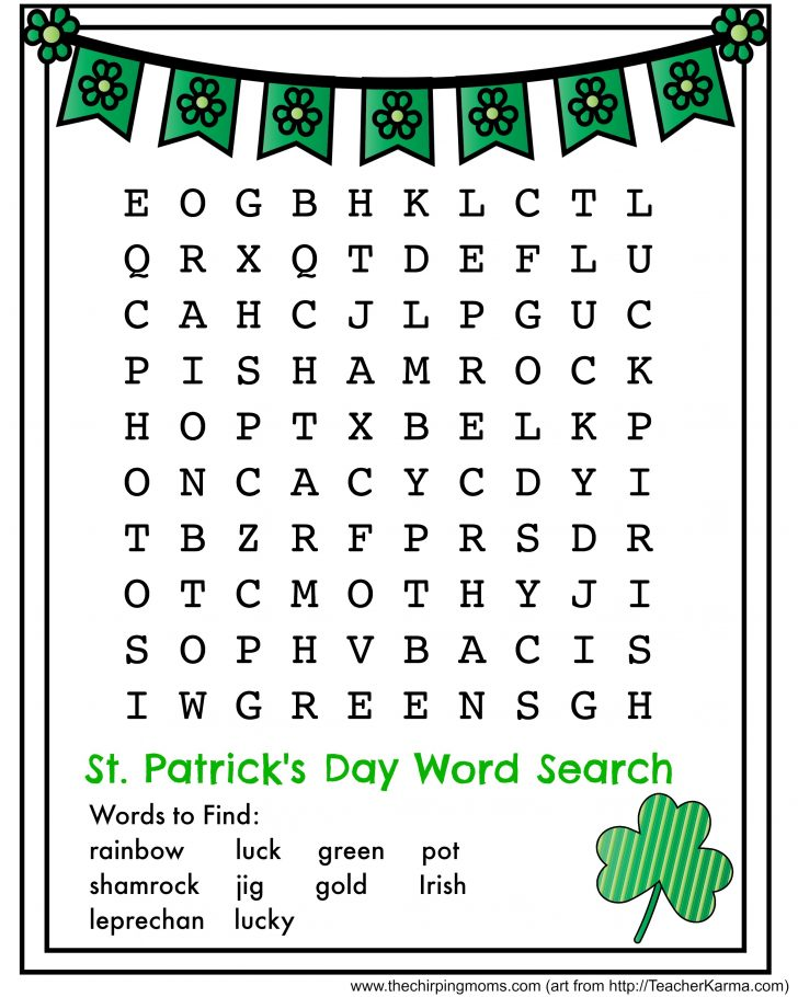 Printable St Patrick's Day Word Search