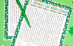 St. Patrick's Day Word Search Printable – Happiness Is Homemade