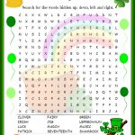 St Patricks Day Word Search | St Patrick's Day Words, St