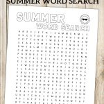 Summer Word Search Printable | Summer Words, Paper Trail