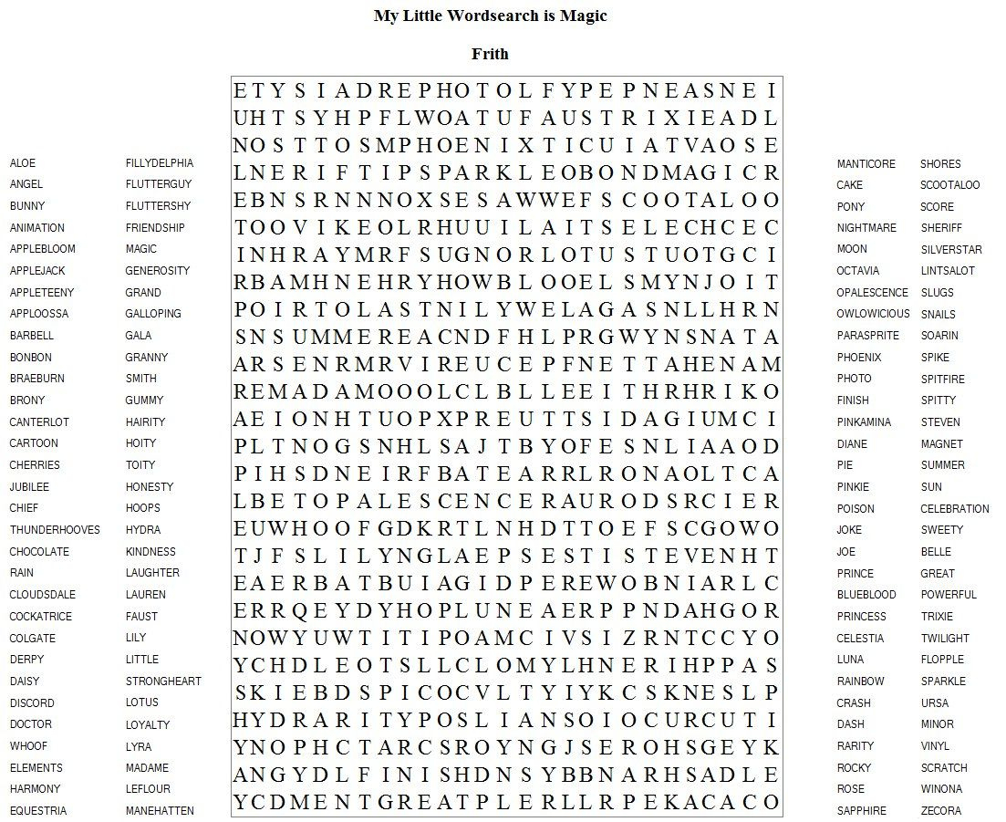 Very Hard Word Searches Printable   Frith Has Brought Us
