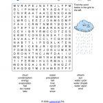 Water Cycle Word Search   Bilingual Project Fiñana
