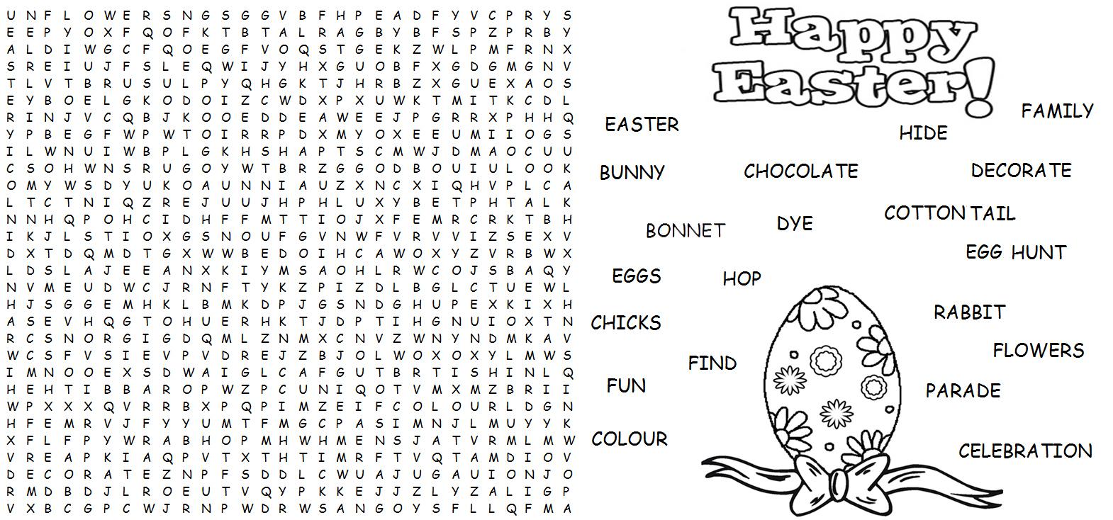 Word Find - Easter - Activities