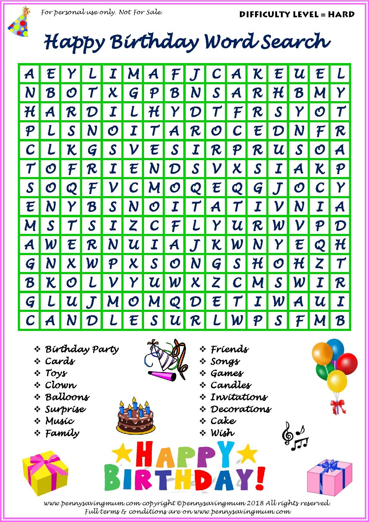 Word Search Happy Birthday (Hard Version) | Happy Birthday