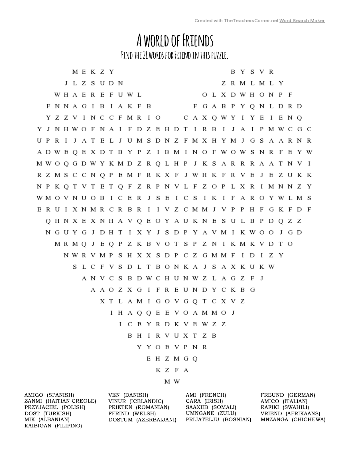 Word Search Puzzles |