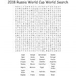 2018 Russia World Cup World Search Word Search   Wordmint