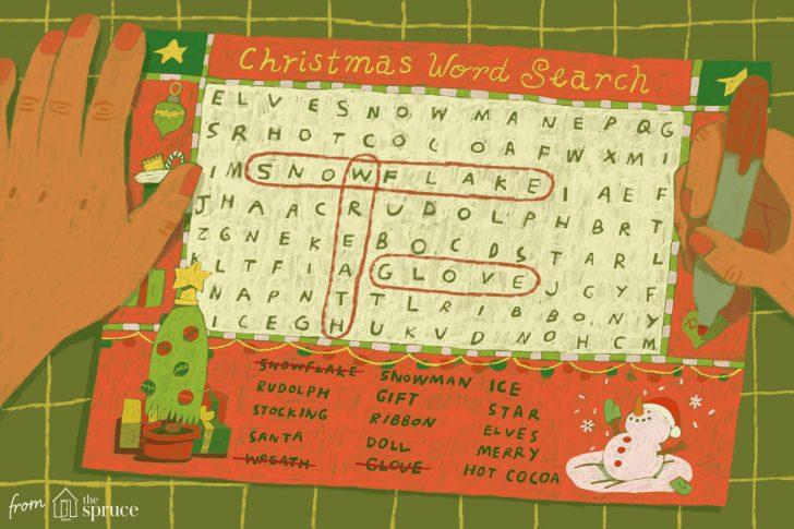 Printable Christmas Word Search 4th Grade