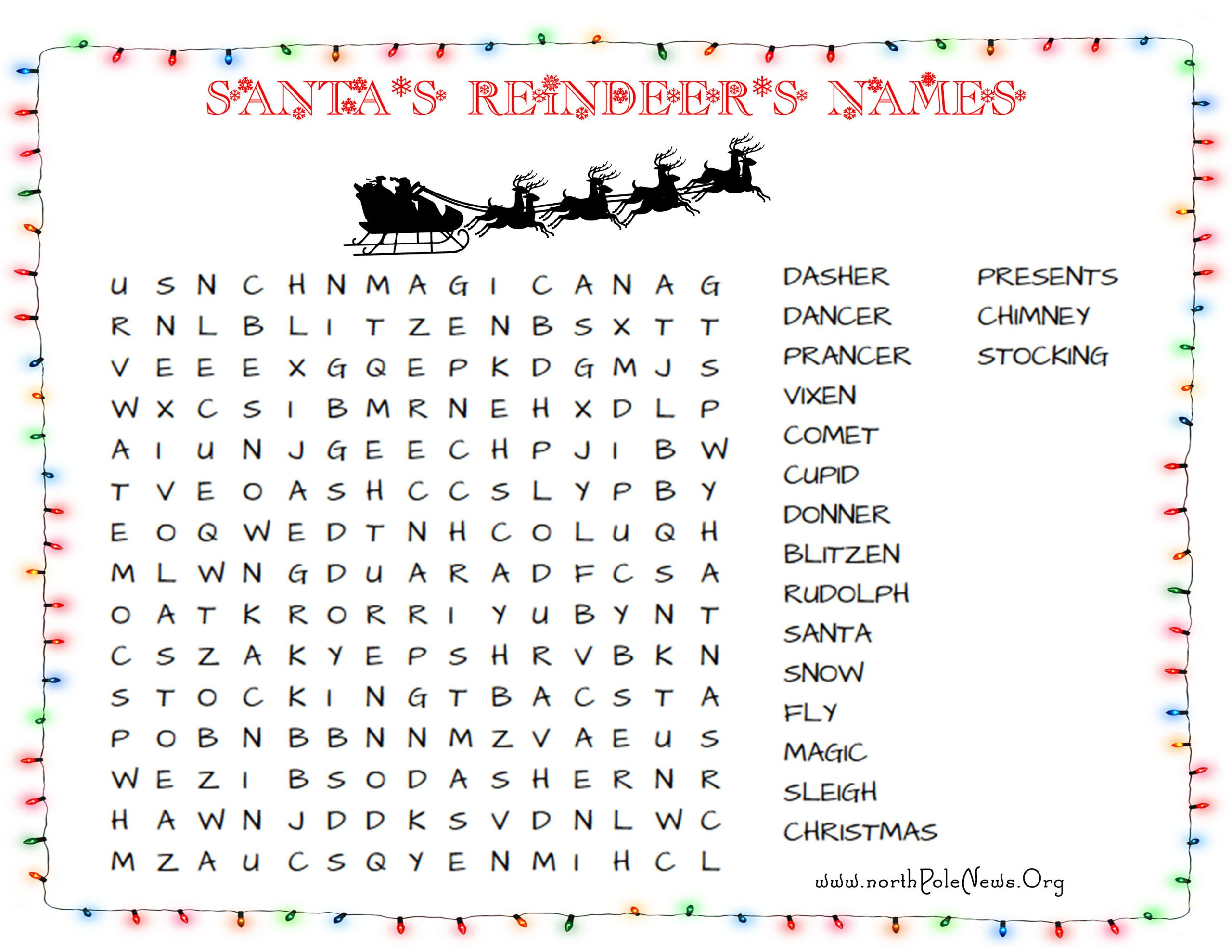 33 Free Christmas Word Search Puzzles For Kids