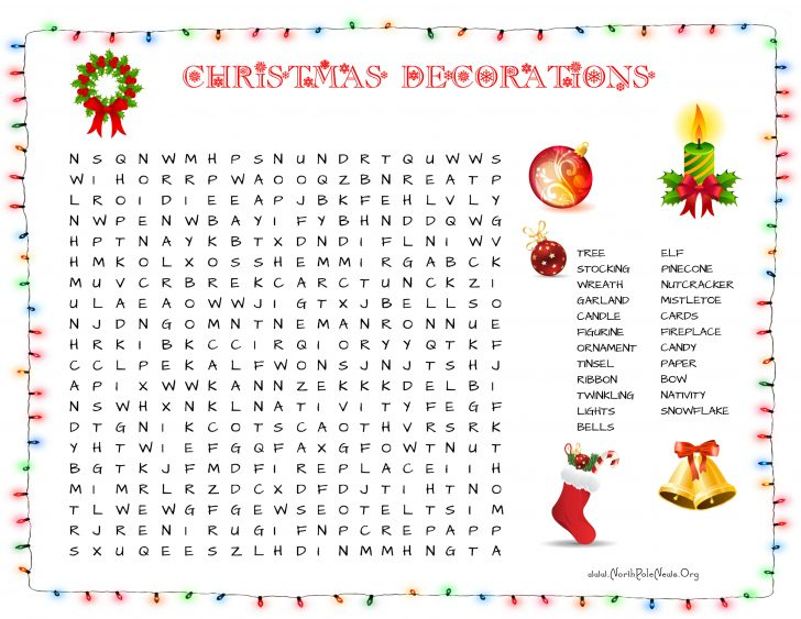 Printable Christmas Word Search For Middle School