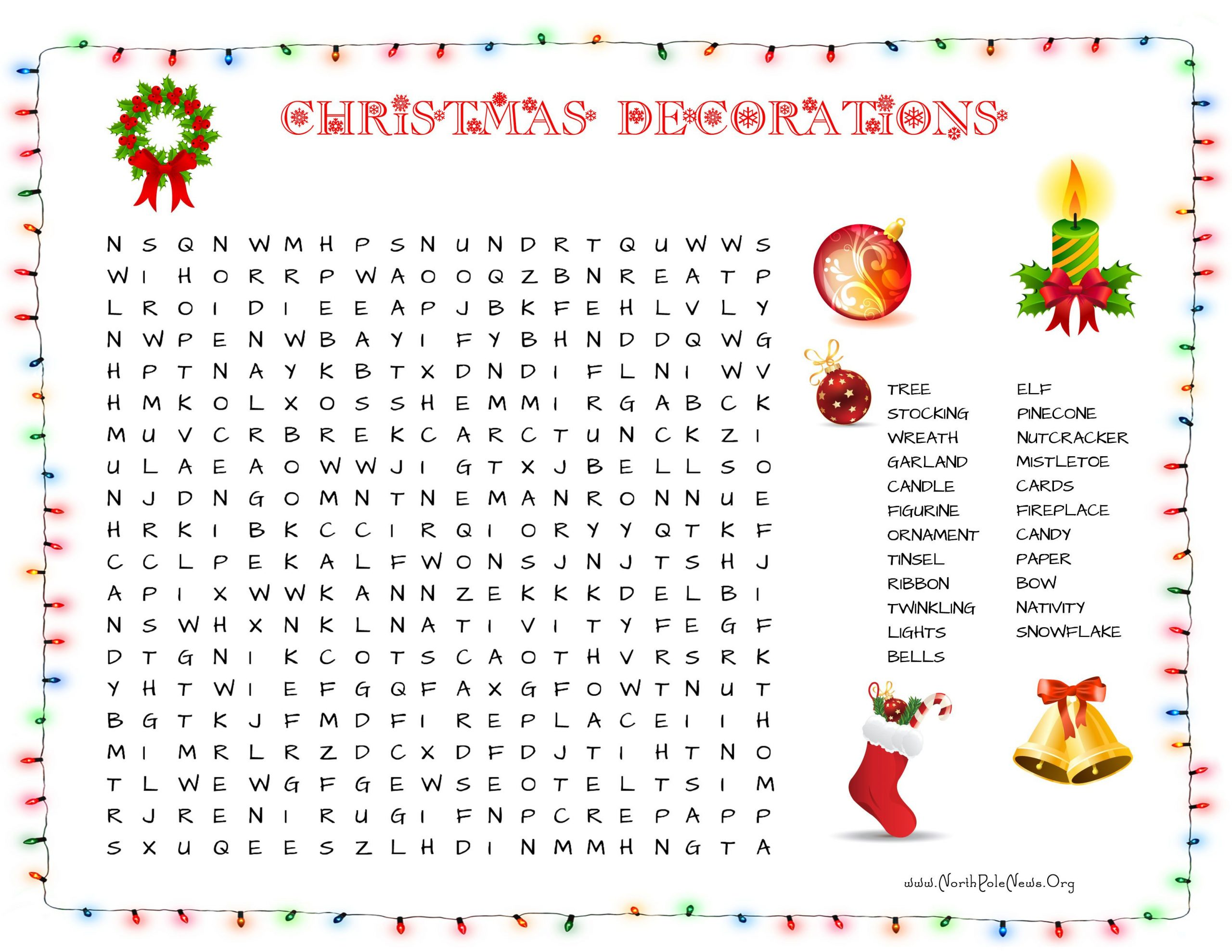 35 Free Christmas Word Search Puzzles For Kids At