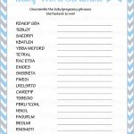 36 Adorable Baby Shower Word Scrambles | Kittybabylove