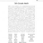 5Th Grade Math Word Search   Wordmint