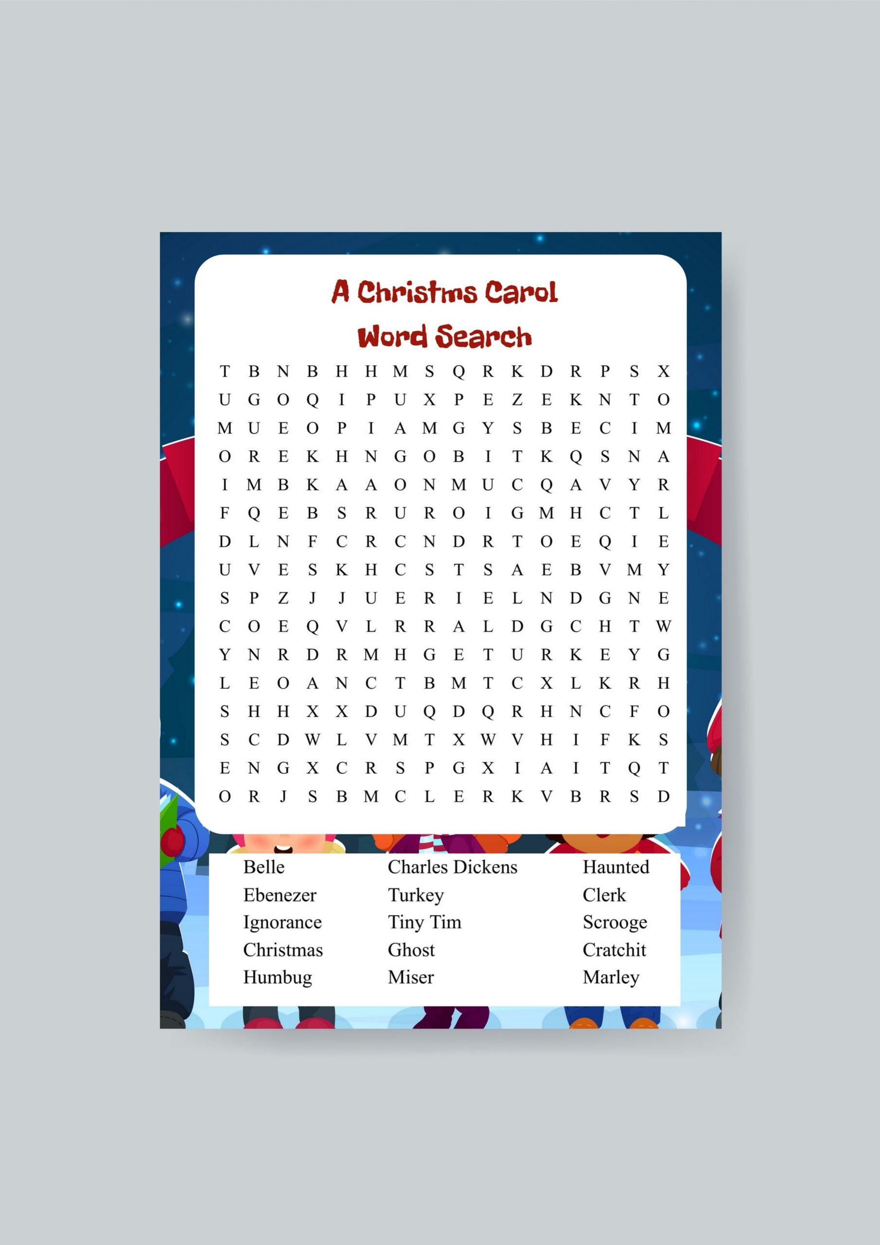 A Christmas Carol Word Search Printable