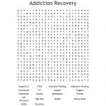 Addiction Recovery Word Search   Wordmint