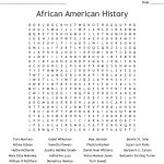African American History Word Search   Wordmint