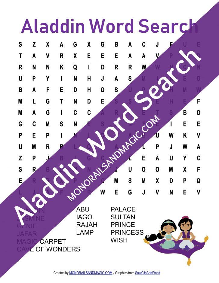 Aladdin Word Search Printable
