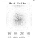 Aladdin Word Search   Wordmint
