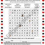 Alice In Wonderland Word Search   Esl Worksheetjbowles