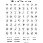 Alice In Wonderland Word Search   Wordmint