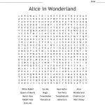 Alice In Wonderland Wordsearch   Wordmint