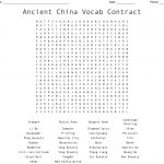 Ancient China Word Search   Wordmint