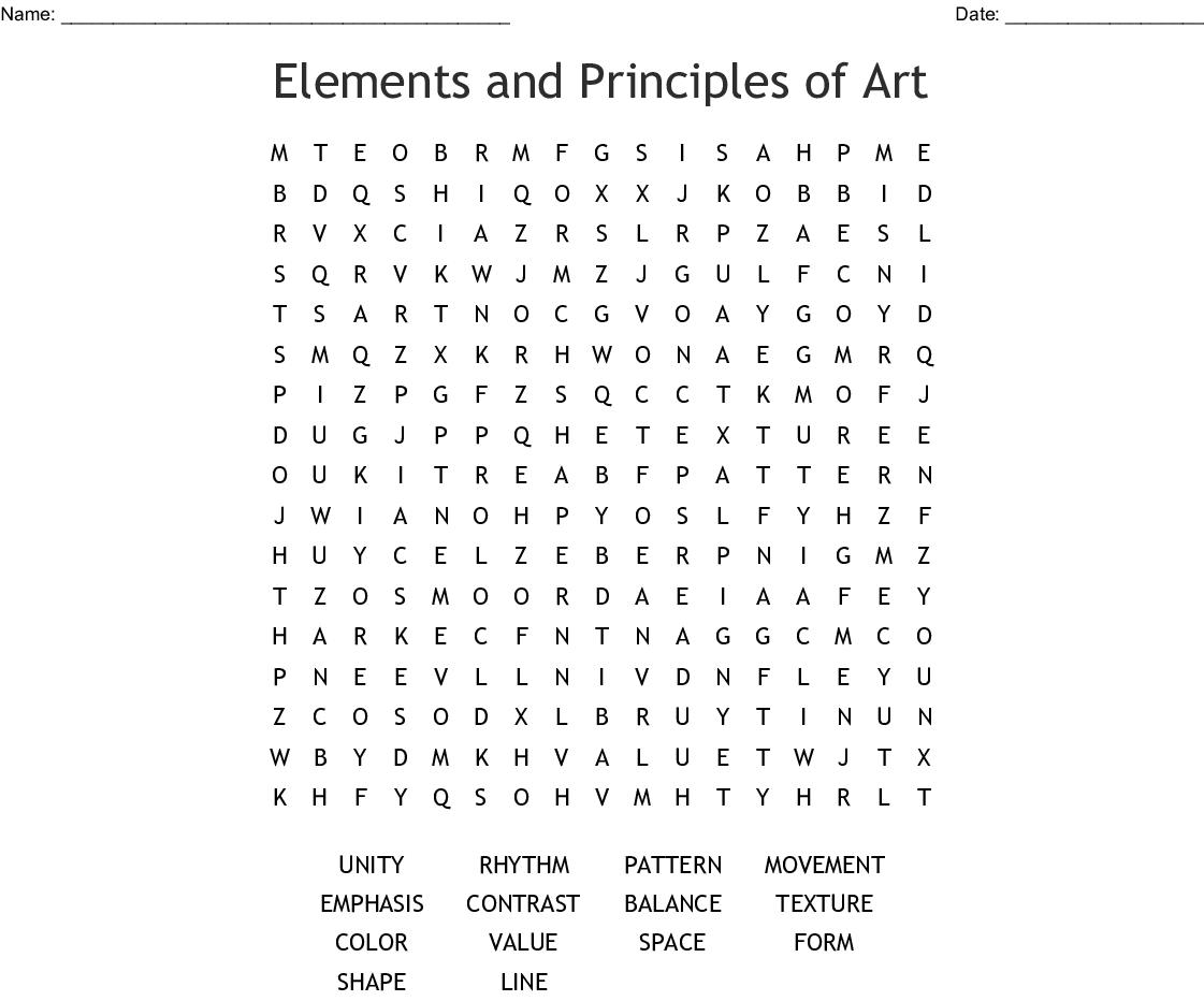Art Crossword Worksheet | Printable Worksheets And