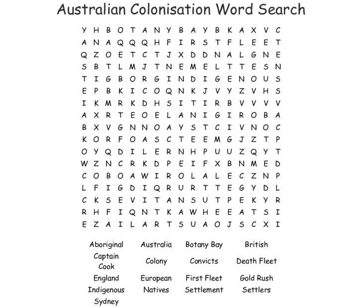 Australia Word Search Printable