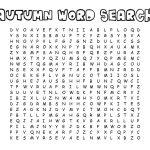 Autumn   Word Find   Printable