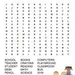 Back To School Word Search Free Printable   Knutselen Voor