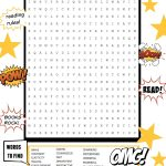 Bam! Pow! This Superhero Word Search Builds An Epic