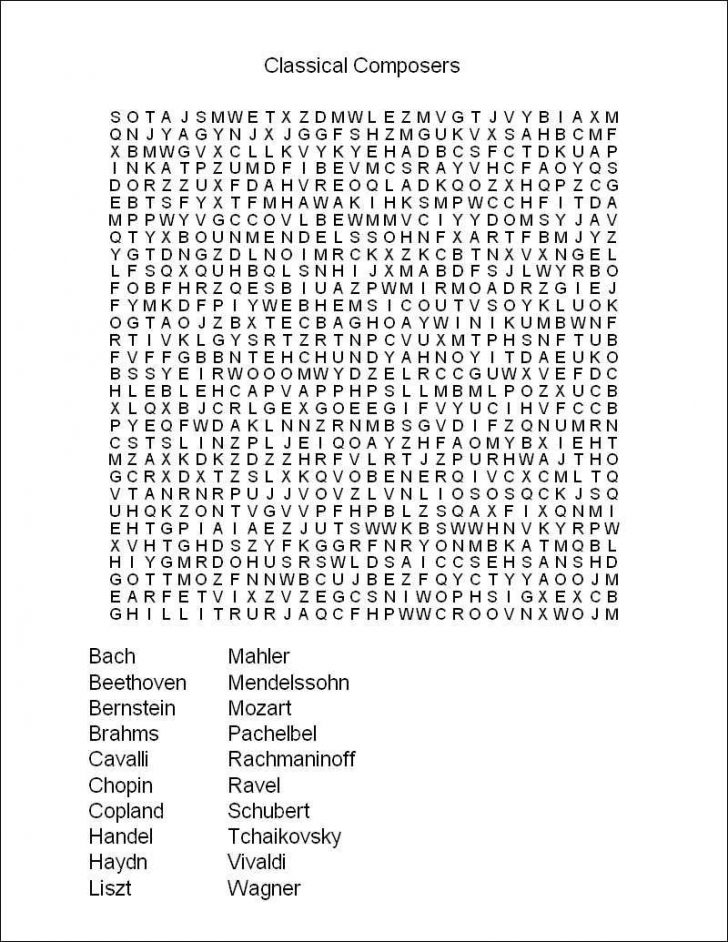 Difficult Word Searches For Kids Printable