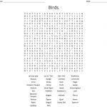 Birds Word Search   Wordmint