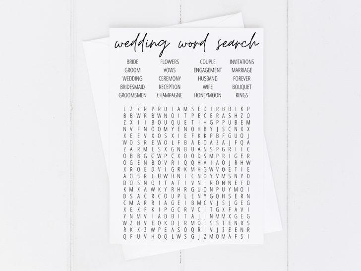 Free Printable Wedding Word Search