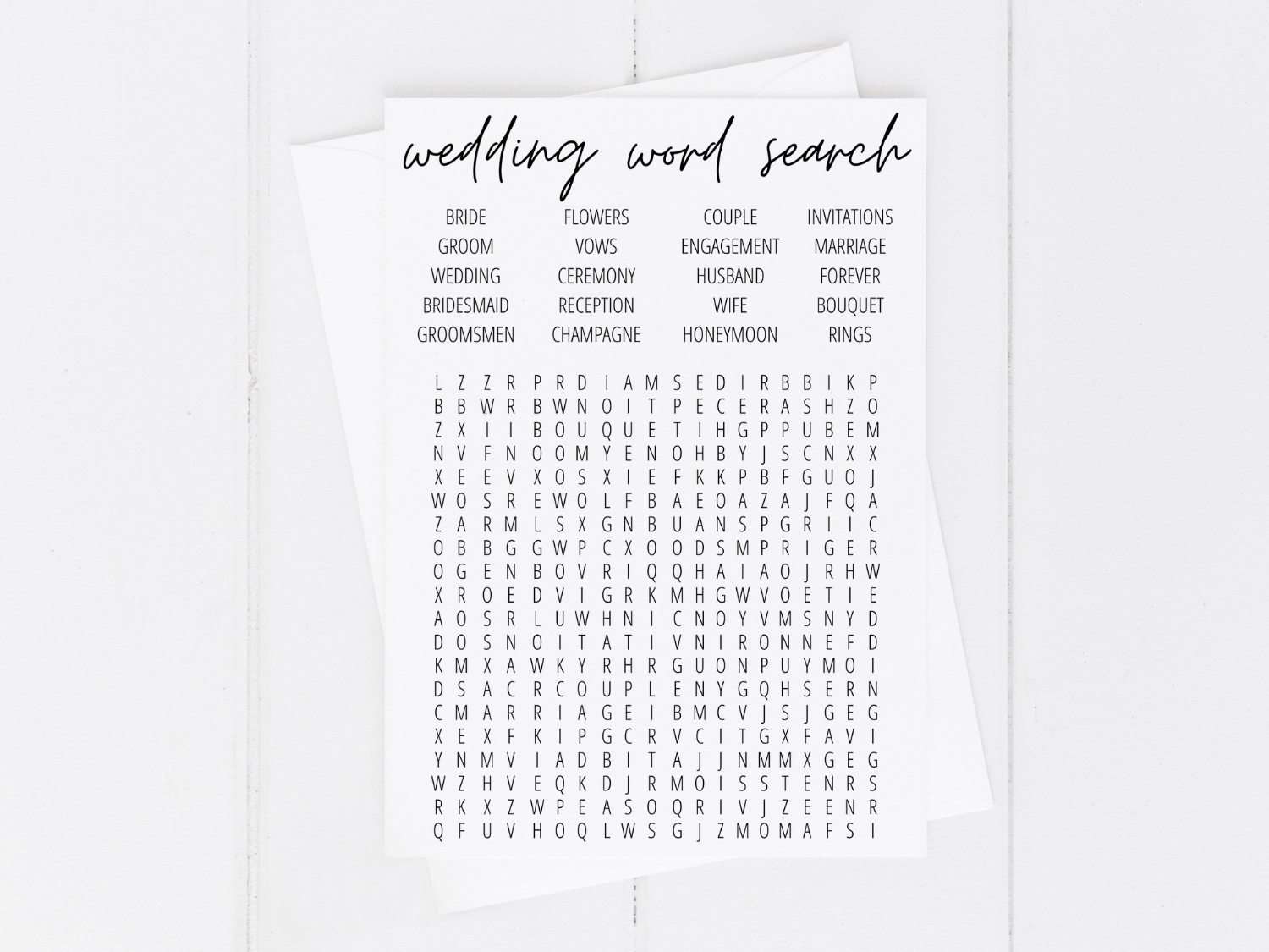 Bridal Shower Word Search Free Printable - Modern Moh