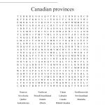 Canadian Provinces Word Search   Wordmint
