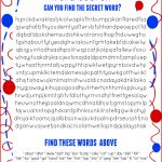 Cat In The Hat Word Search Free Printable Dr. Seuss Birthday
