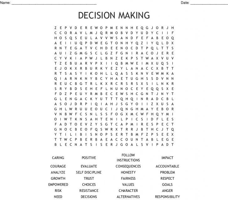 Life Skills Word Search Printable
