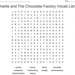 Charlie And The Chocolate Factory Vocab List 1 Word Search