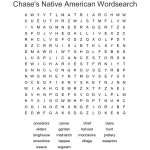 Chase's Native American Wordsearch   Wordmint