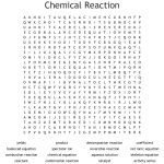 Chemical Reaction Word Search   Wordmint