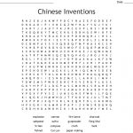 Chinese Inventions Word Search   Wordmint