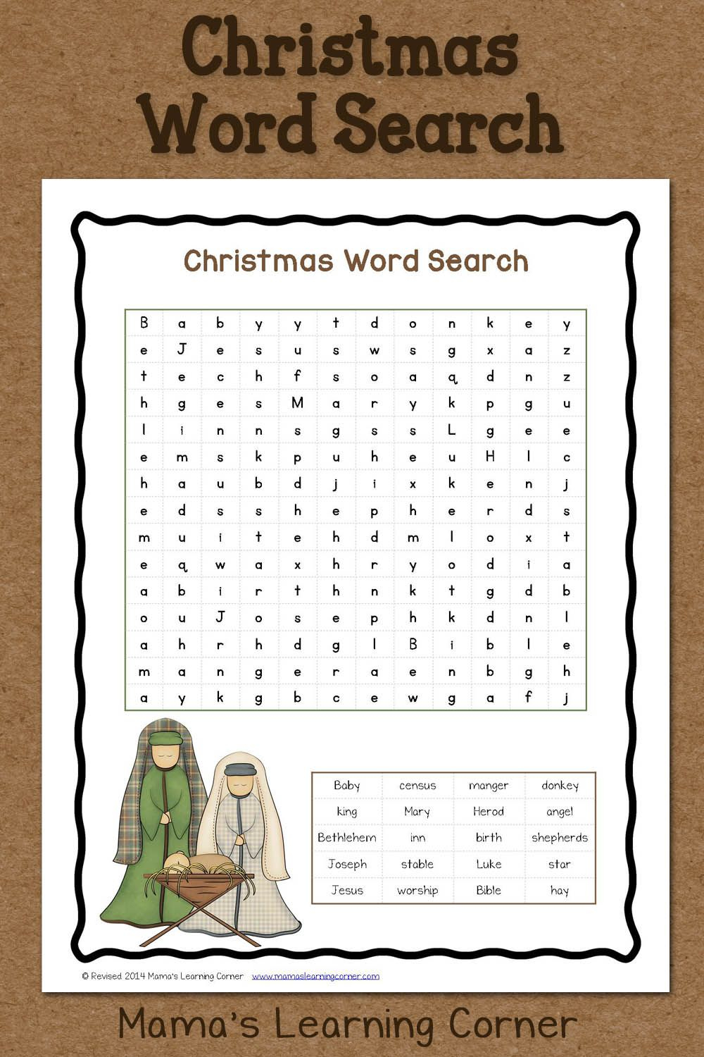 Christmas Word Search: Free Printable | Christmas Word