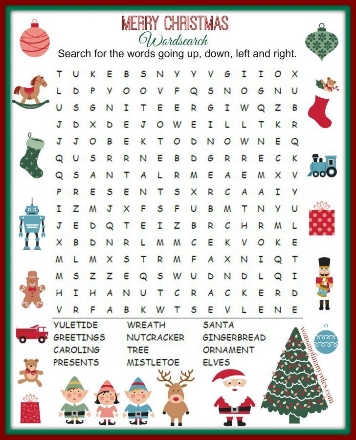 Christmas Holiday Word Search Printable