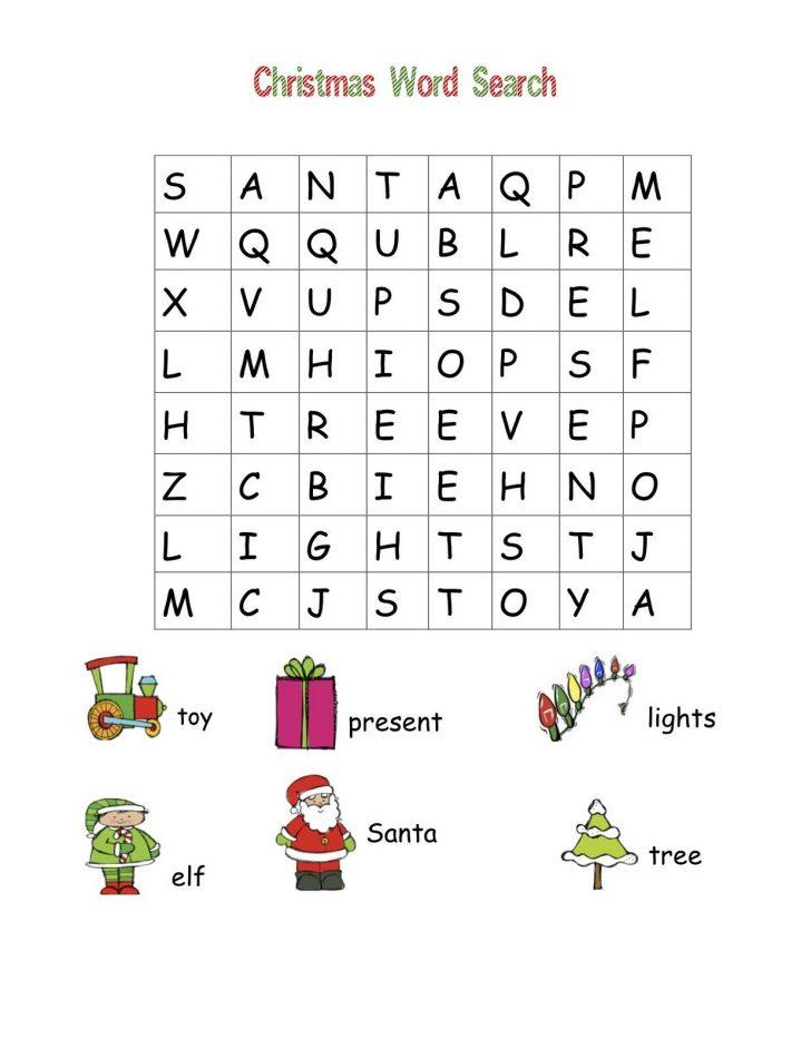 Christmas Word Search Easy Printable