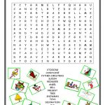 Christmas Wordsearch   English Esl Worksheets For Distance