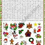 Christmas Wordsearch   Esl Worksheetkosamysh