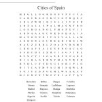 Cities Of Spain Word Search   Wordmint