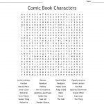 Comic Book Characters Word Search   Wordmint