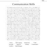 Communication Skills Word Search   Wordmint